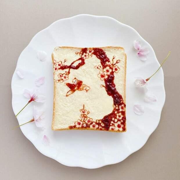 Японская художница превращает обычные тосты в произведения искусства