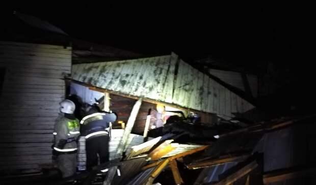 Насевере Омской области из-за хлопка газа обрушился дом