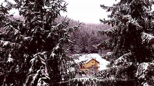 40 одиноких домов среди волшебной красоты зимних пейзажей дома, зима, уединение