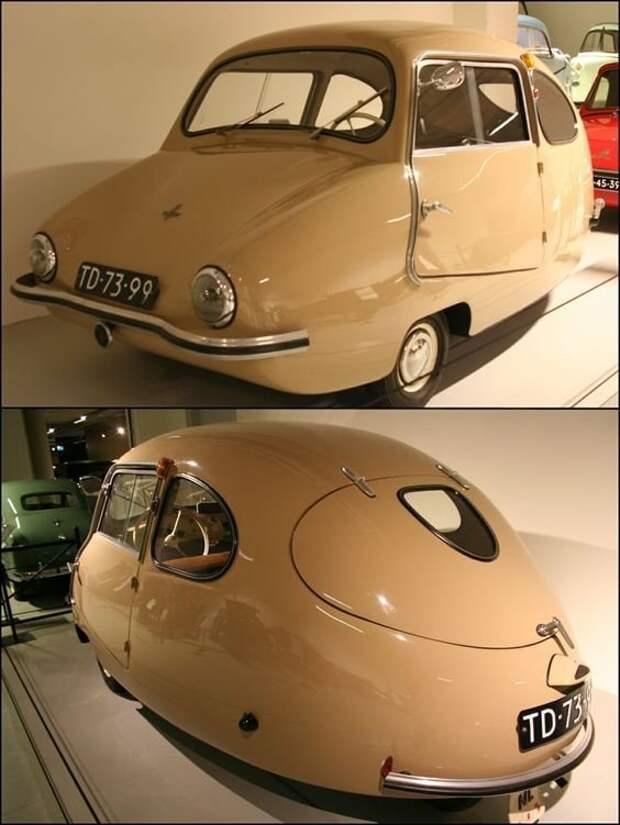 1955 Bambino 200.Rear Колесный привод, двухтактный двигатель с максимальной скоростью 49 миль в час. автомир, аэродинамика, из прошлого, конструкция, обтекаемость. формы