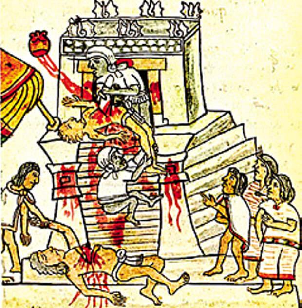 Ацтеки считали, что человеческая кровь нужна Солнцу, чтобы совершать свой путь по небу