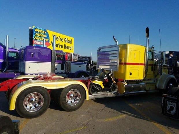Забавные фотографии про грузовики и дальнобойщиков