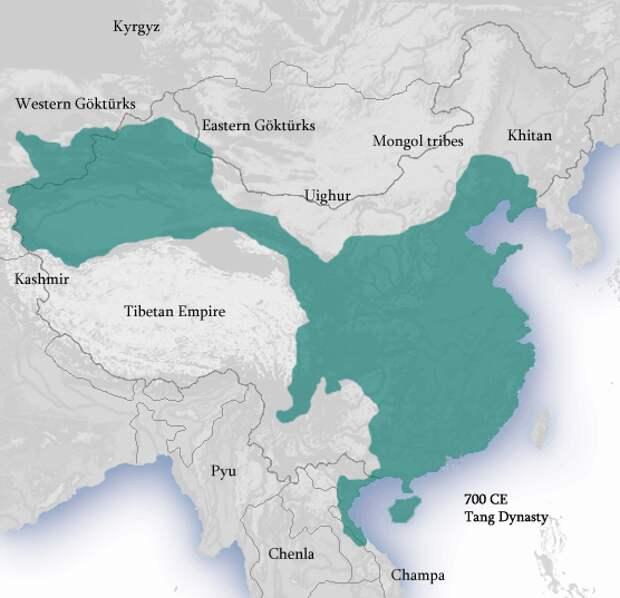 Китайская империя, династия Тан, 700-ые годы.