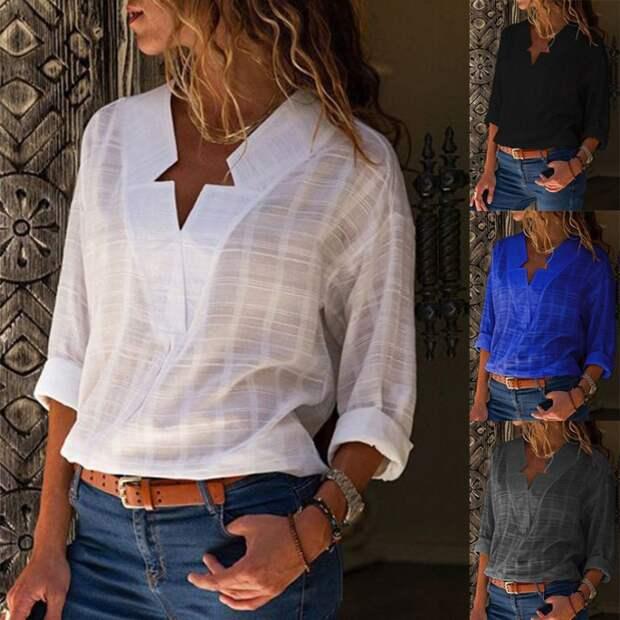 Выкройки блузки с вывернутыми лацканами
