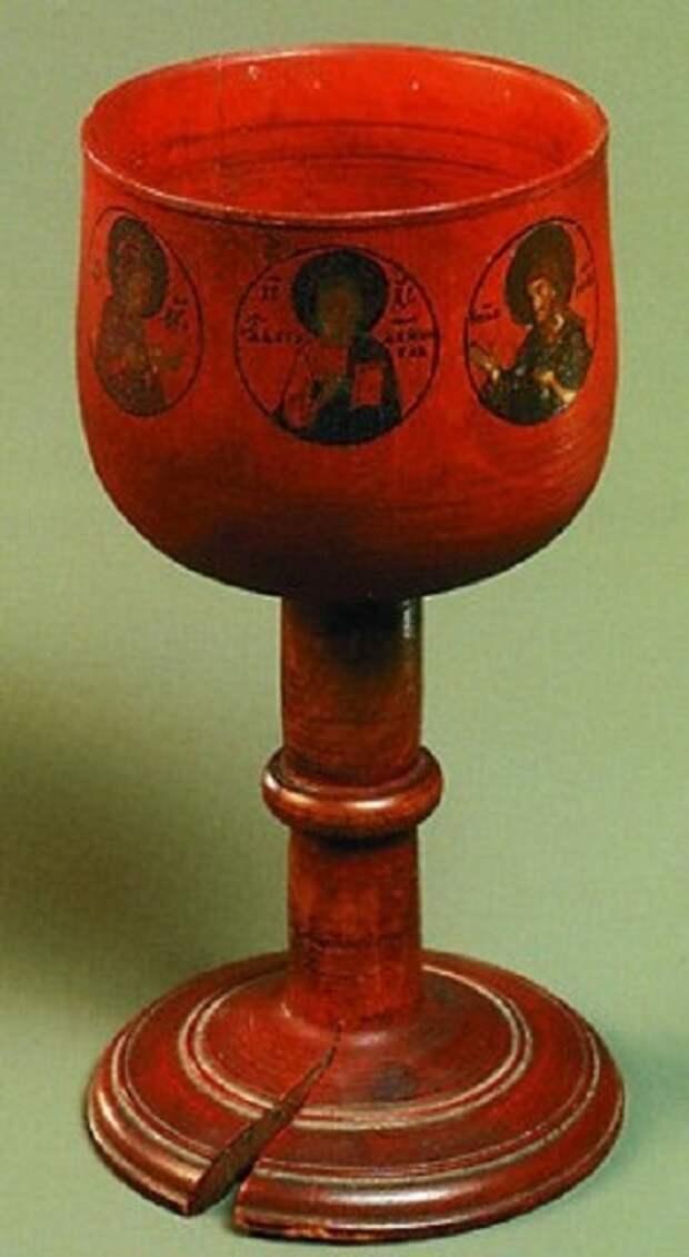 Деревянный потир Преподобного Сергия Радонежского
