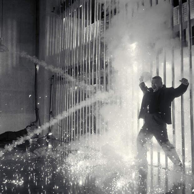 За кадром фильма «Голдфингер» с Шоном Коннери