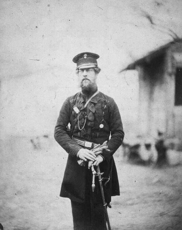 Британский офицер в Балаклаве во время Крымской войны
