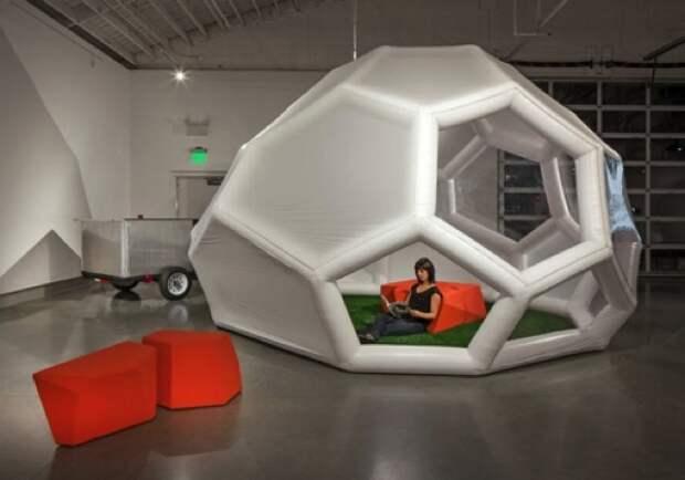 Надувной компактный тент-палатка