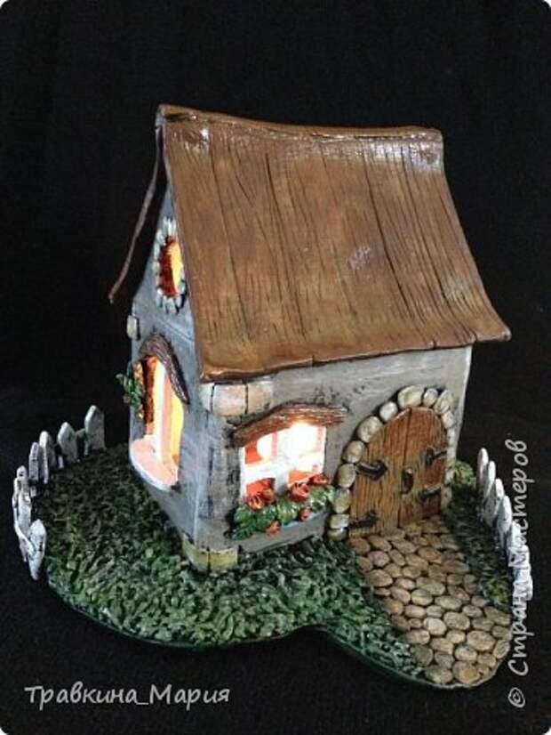 Мастер-класс Поделка изделие Лепка Свечной дом Глина фото 31
