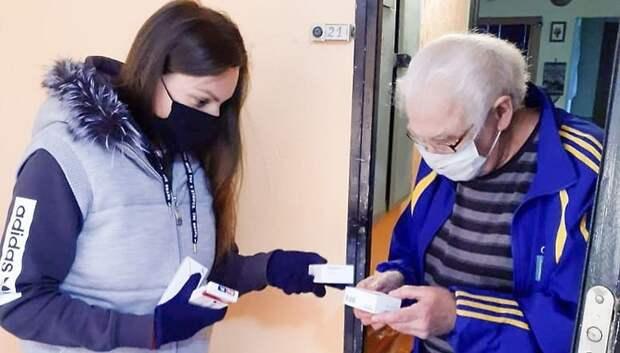 В Мытищах одинокому пенсионеру на самоизоляции доставили лекарства на дом
