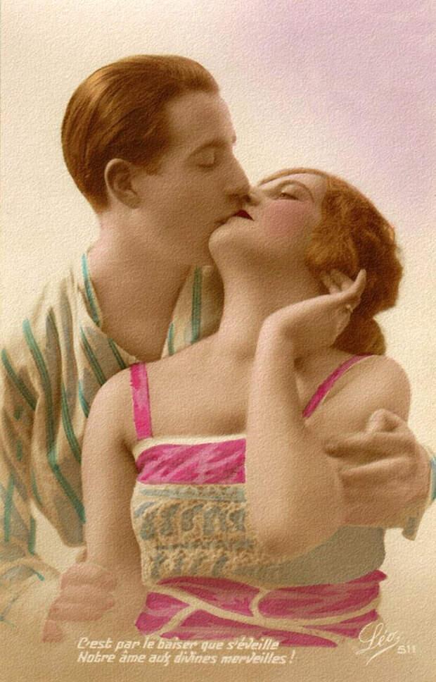 Французские открытки, в которых показано, как романтично целовались в 1920-е годы 38
