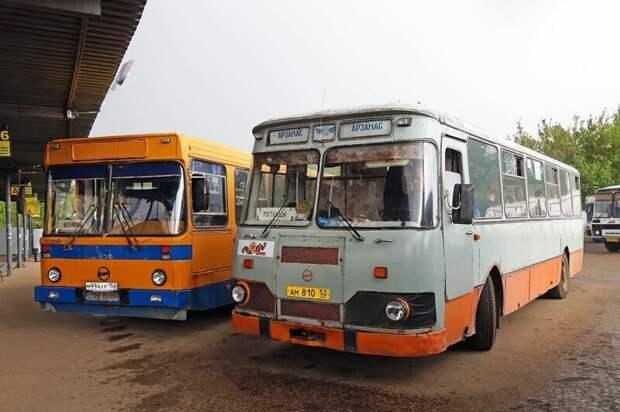 Встреча двух поколений: классический 677 и экс-школьный 5256, переданный из Мосгортранса Арзамас, ЛиАЗ 677, автобус, автомир, лиаз, общественный транспорт, ретро техника