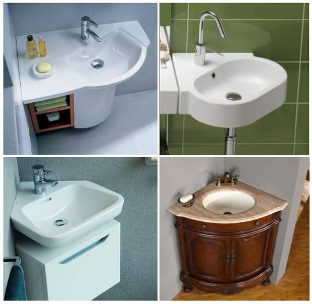 Угловые раковины для ванной комнаты — виды, особенности, монтаж