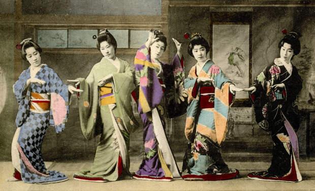 1908. Танцевальный фестиваль гейш в Синбаси