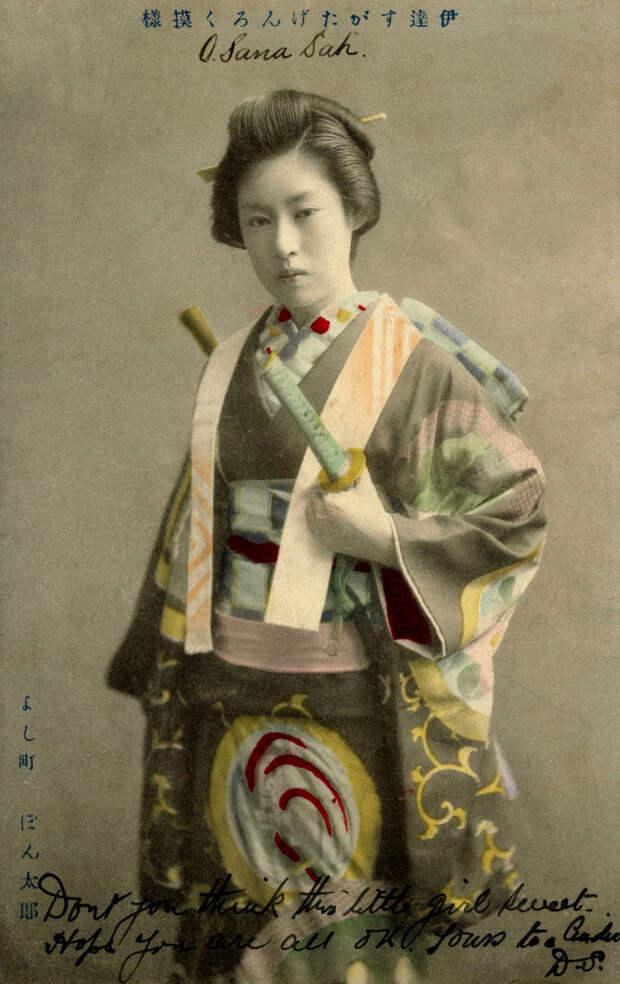 1907. О-Сана Сан, гейша района Йоши-чо в Токио