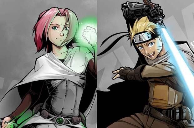 Герои «Наруто» попали в мир «Звёздных войн»