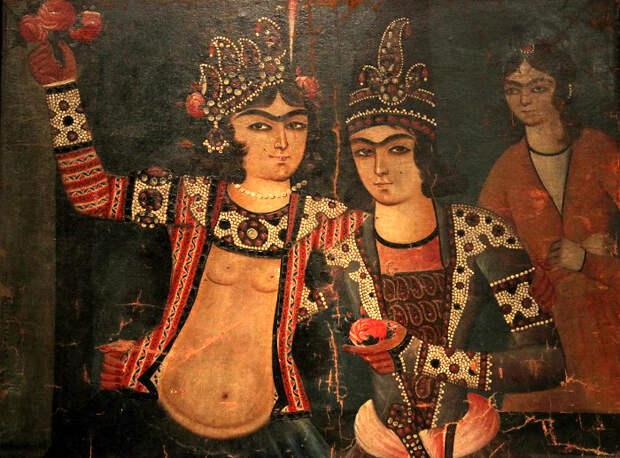 Обнажённой или почти обнажённой красавица на иранской картине изображалась только в одной определённой ситуации: с любовником.