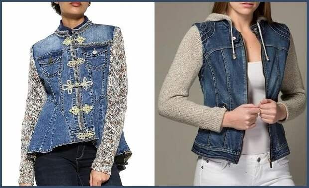 Одежда из комбинированных материалов (трафик)