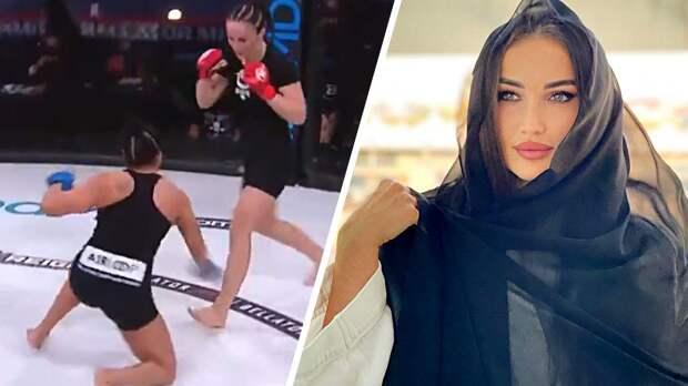 """Красавица из """"Ахмата"""" выиграла первый бой в США. Авсарагова оформила нокаут за 29 секунд"""