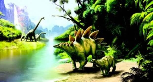 Стегозавр действительно отдаленно напоминает бегемота