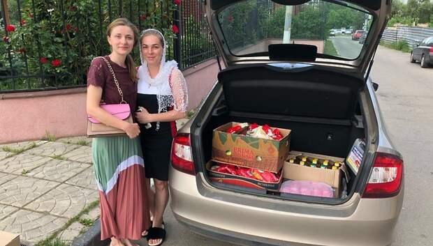 Кирилло‑Мефодиевскией храм передал Георгиевскому сестричеству 45 кг продуктов