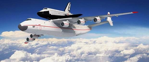 Самолёт Ан-225 «Мрия» с космическим челноком «Буран»
