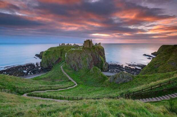Замок Данноттар — Стонхейвен/Абердин, Шотландия