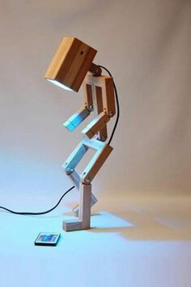 Лампа человечек