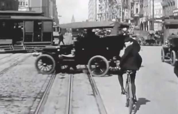 Это просто прекрасно – как ездили в 1906 году. Видео от первого лица