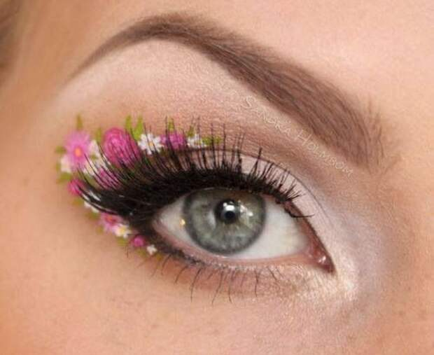 Цветочный макияж (подборка)