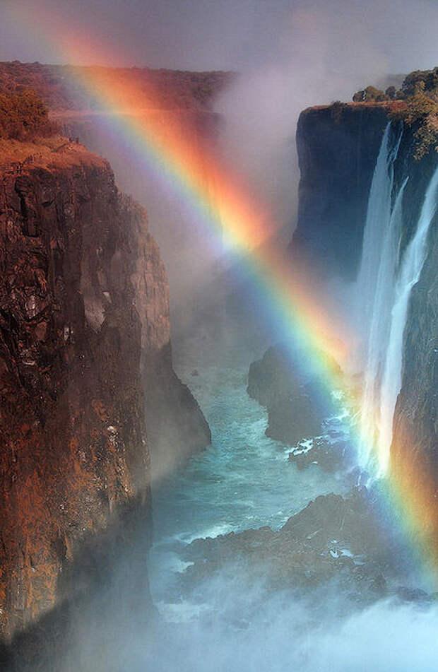 rainbow06 Радуга над самым большим водопадом в мире