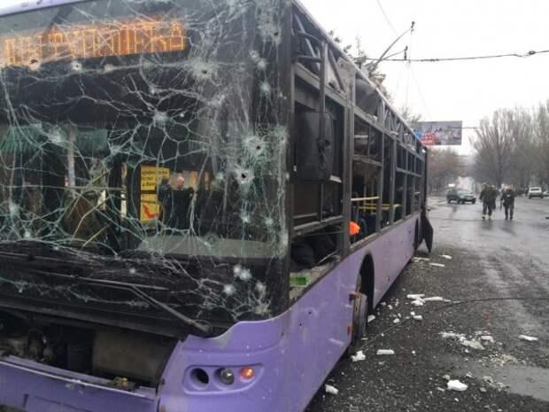 Расстрел автобуса в Донецке
