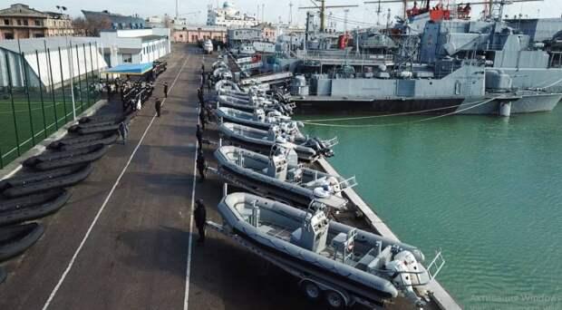 Украинские ВМС усилились надувными лодками