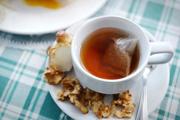Пакетированный чай из земляной груши можно купить в аптеке, а можно приготовить самостоятельно