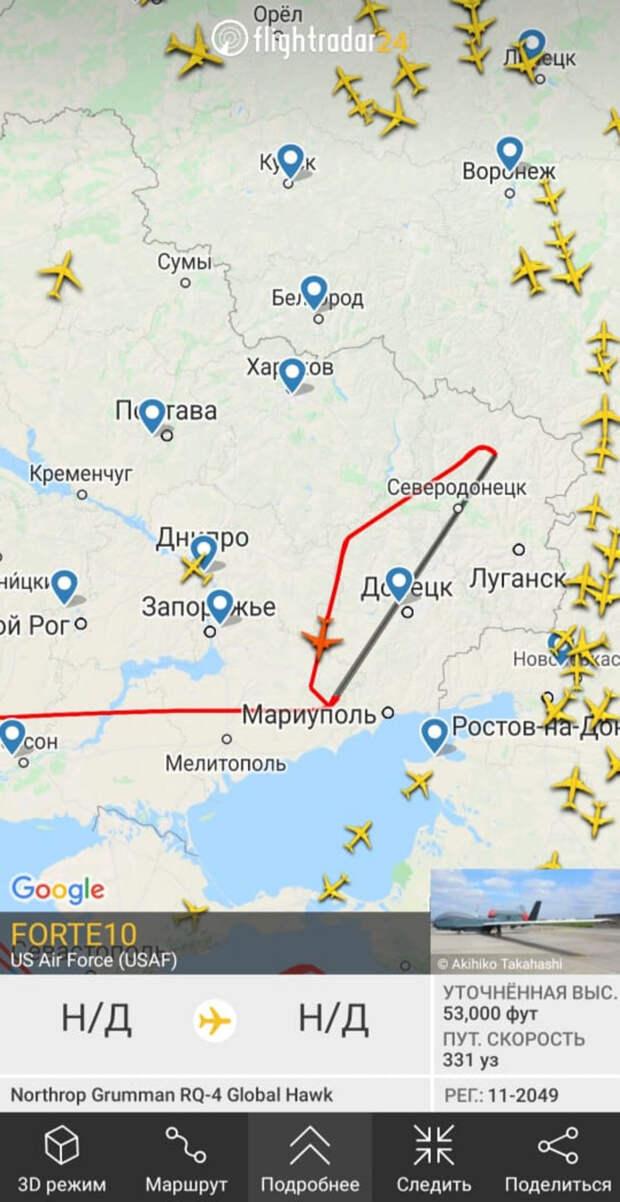 Военная техника США вторглась на территорию Донбасса.