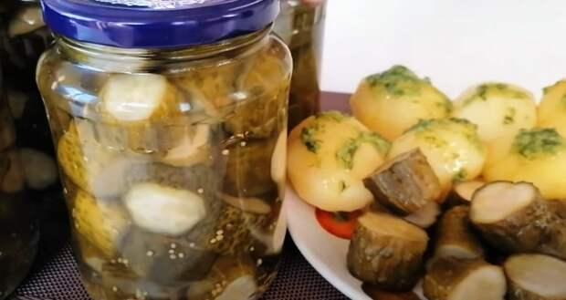 Огурцы по-фински: готовлю тазиками все лето! Вкусная заготовка на зиму