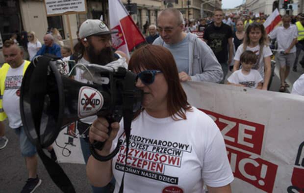 В Европе противники вакцинации столкнулись с полицией