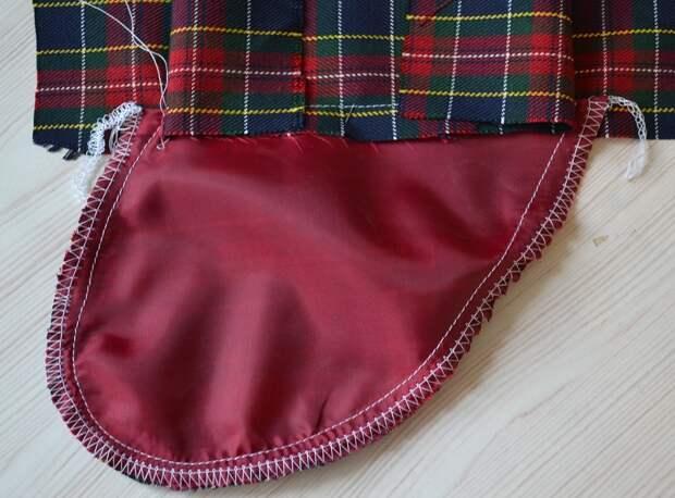 Обработка внутреннего бокового кармана платья, шаг 13