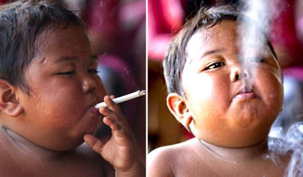 Через 8 лет: Что произошло с 2-летним малышом, который выкуривал по 40 сигарет за день