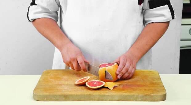 Салат из грейпфрутов с мятой. Шаг 2