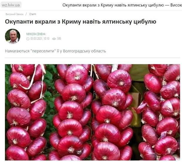 Владимир Карасёв: На Украине вновь «зрада» - мы украли у них «цыбулю»