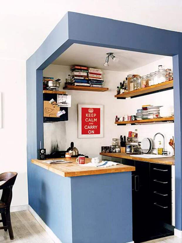 Дизайн маленькой кухни: обеденный стол - 08 - Портал Домашний
