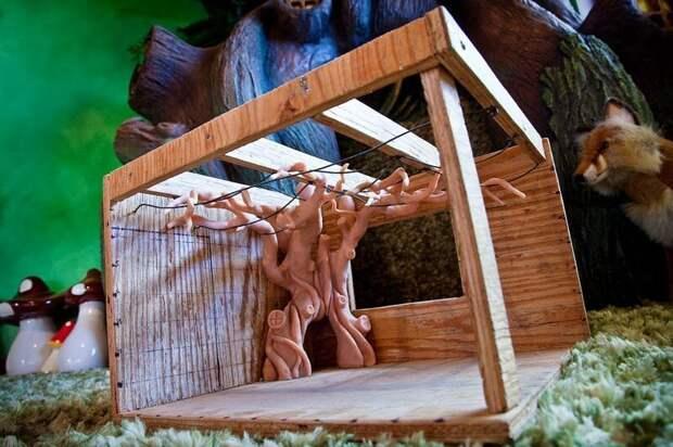 2. Затем отец соорудил небольшой макет волшебного дерева дети, детская, детская комната, дизайн, идеи, ремонт, своими руками, фото