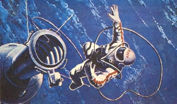 Первый в открытом космосе...