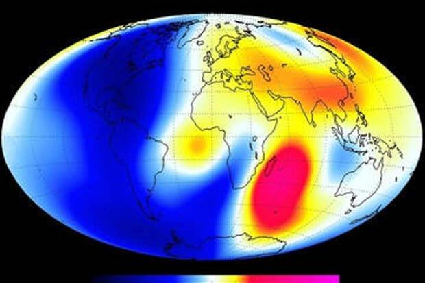 Магнитное поле Земли быстро слабеет