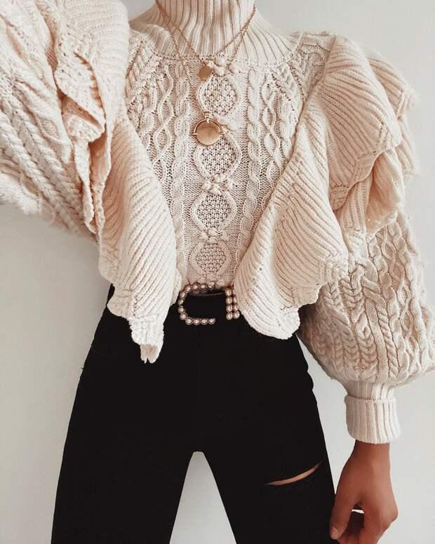 Модный свитер осень 2020: модели, которые можно подобрать под любую фигуру (+13 фото)