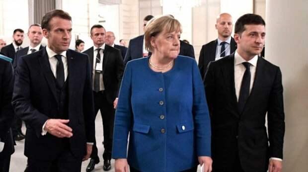 Зеленский готовится к встрече с Меркель и Макроном без Путина