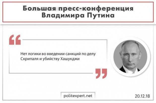 «Русофобский подход»: Путин сравнил реакцию Запада на отравление Скрипаля и убийство Хашогги