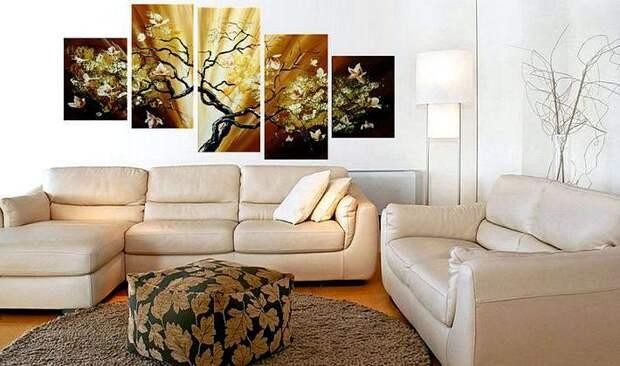 Картины в интерьере: почему стоит украшать ими помещение