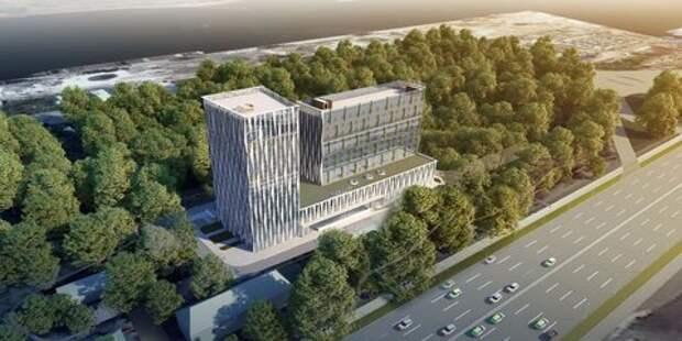 Гостиницу с чешуйчатыми фасадами и «зеленой» крышей построят в САО